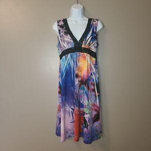 🌻2/$20 Mushka Sienna Rose Watercolor Tank Dress